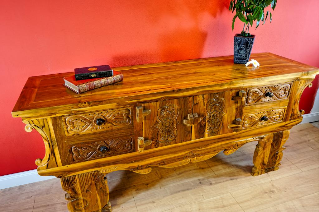 asiatische m bel teak holz sideboard surakarta kinaree. Black Bedroom Furniture Sets. Home Design Ideas