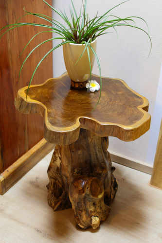 Burl Wood Side Table ALOR SETAR