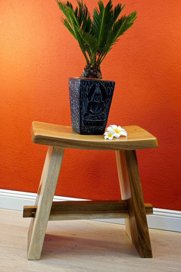 Asian Furniture Wooden Stool Japanese Style Suzie Kinaree