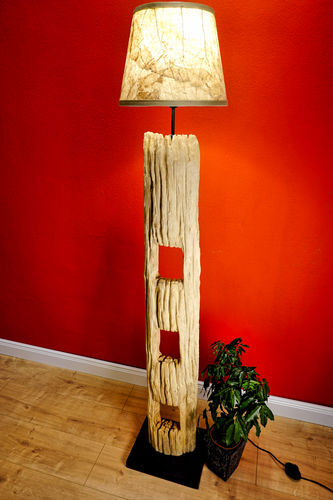 Old Wood Floor Lamp BAN DONKON