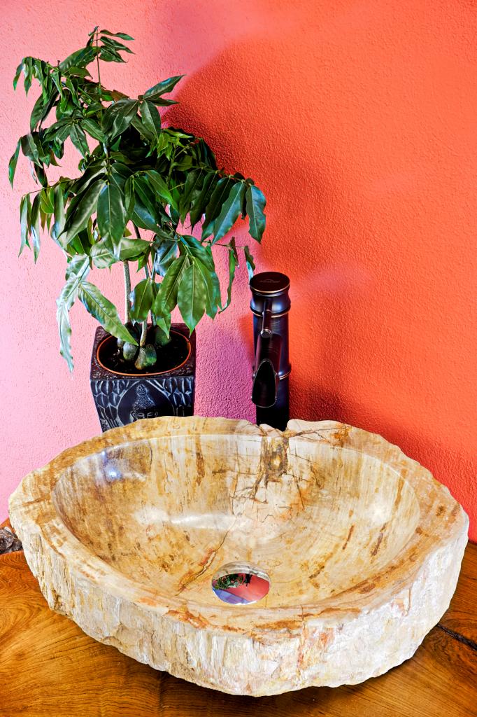 waschbecken aus versteinertem holz waschschale. Black Bedroom Furniture Sets. Home Design Ideas