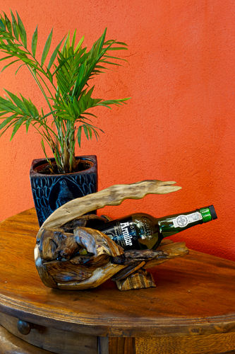 Root Wood Bottle Holder