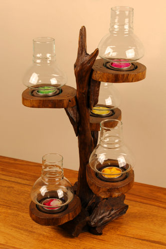 Root Wood Candle Holder Tree