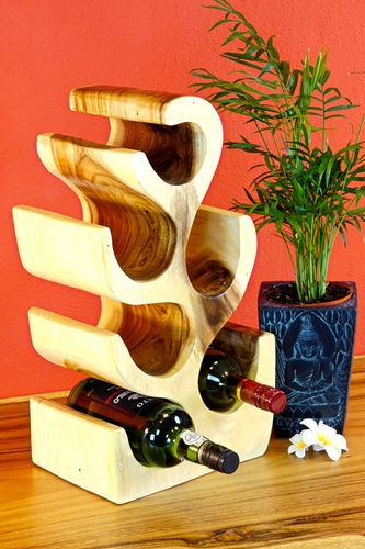 Wood Wine Rack natural colour