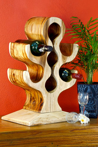 Acacia Wine Rack Natural