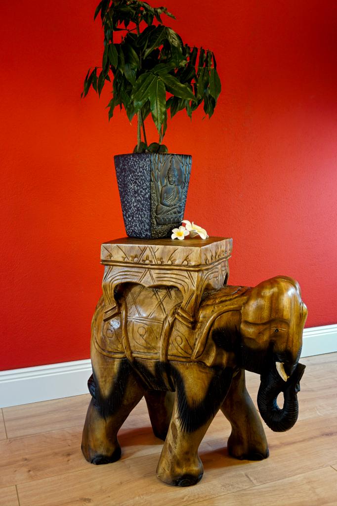 Holz beistelltisch elefant kaoh yor kolonial - Beistelltisch kolonial ...