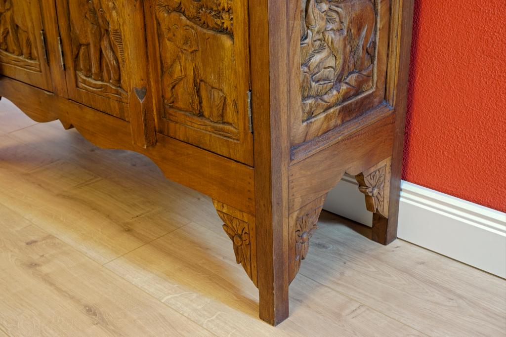 akazie massivholz sideboard chang ii holz schrank. Black Bedroom Furniture Sets. Home Design Ideas