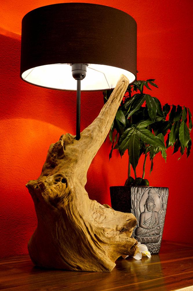 Treibholz Tischlampe Thanin Holz Lampe Stehlampe Kinareede