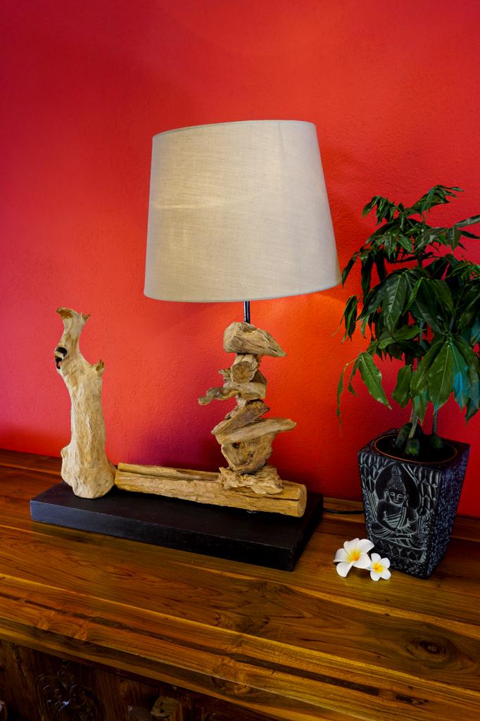 treibholz tischlampe chai holz lampe leuchte. Black Bedroom Furniture Sets. Home Design Ideas