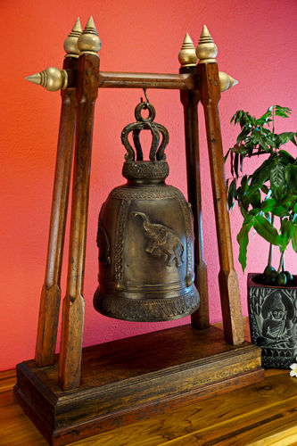 XXL Temple Bell with Stand