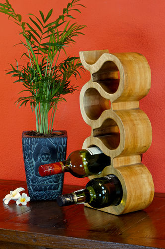 42cm Wooden Wine Rack