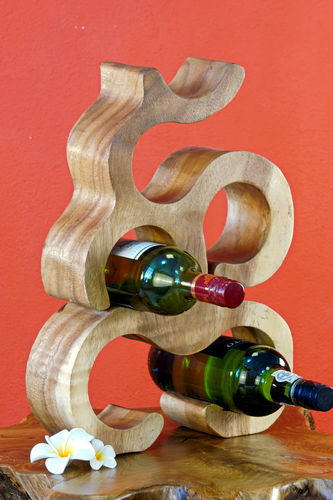 40 cm Wooden Wine Rack nature