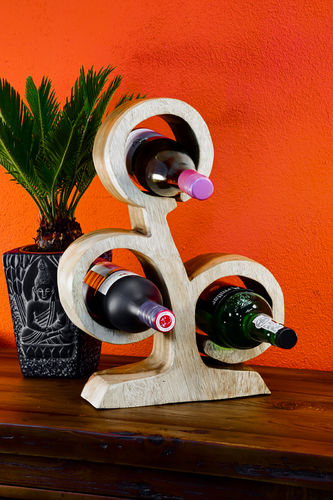 41 cm Wooden Wine Rack natural