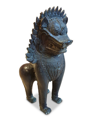 Bronze Statue Guardian Lion