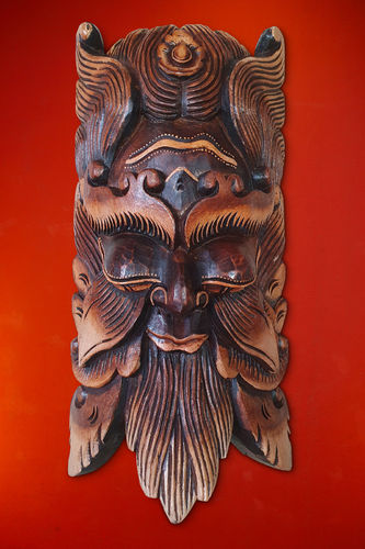 Wooden Balinese Mask