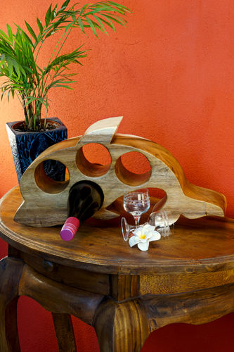 Wooden Wine Rack Dolphin