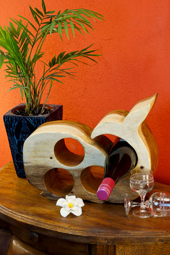 Wooden Wine Rack Whale