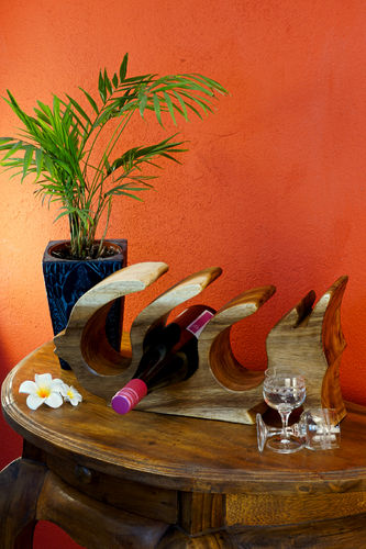 Wooden Wine Rack Fish