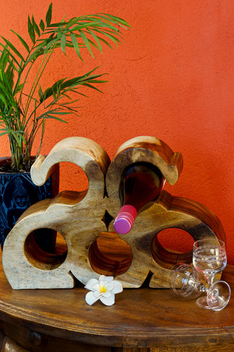 Wooden Wine Rack 2 Elephants