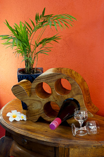 Wooden Wine Rack Turtle