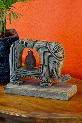 Elephant with Bronze Bell