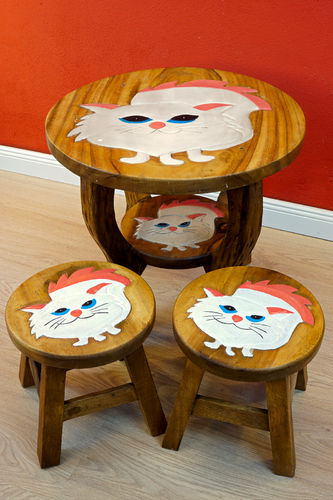 Child Seating Group Cat White