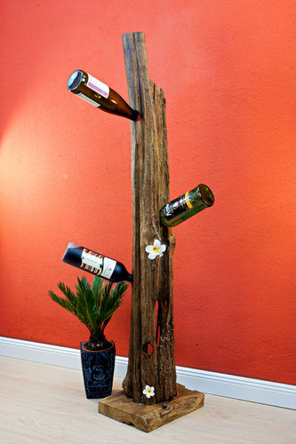 Root wood bottle stand XL