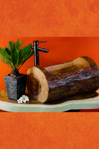Tree Trunk Sink Acacia