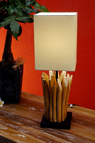 Driftwood table lamp LEILANI